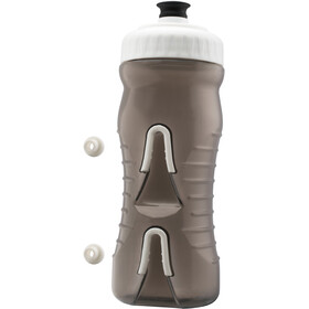 Fabric Cageless Drikkeflaske 600ml, grey/white